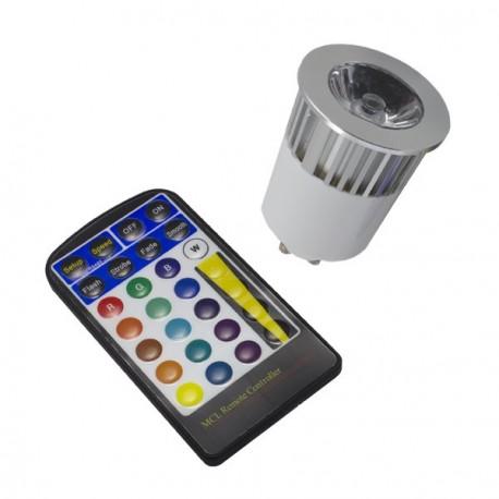 BOMBILLA DICROICA RGB 5W GU10