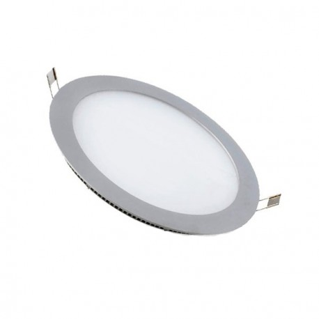 DOWNLIGHT PANEL 18W REDONDO PLATEADO