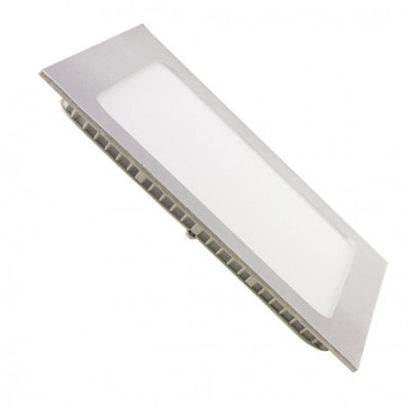 DOWNLIGHT PANEL 18W CUADRADO PLATEADO