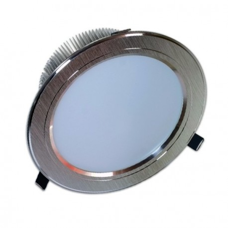 DOWNLIGHT LED FIJO 15W PLATEADO GRAN ANGULAR