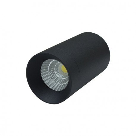 DOWNLIGHT LED FIJO DE SUPERFICIE 7W COB NEGRO