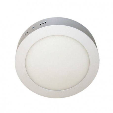 PLAFÓN LED DE SUPERFICIE 18W REDONDO BLANCO