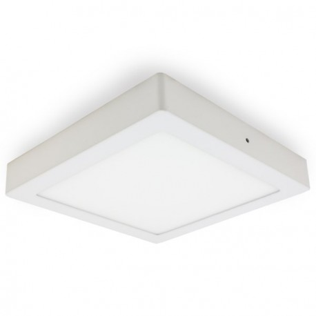 PLAFÓN LED DE SUPERFICIE 30W CUADRADO BLANCO