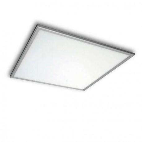 PANEL LED CUADRADO 60 X 60 CM 40W MARCO PLATEADO