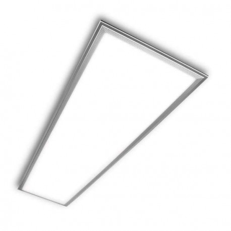 PANEL LED RECTANGULAR 60 X 120 CM 72W MARCO PLATEADO