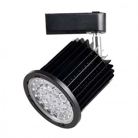 FOCO CARRIL LED 36W ALUMINIO MATE NEGRO ORIENTABLE