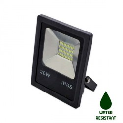 PROYECTOR LED PLANO 20W SMD NEGRO