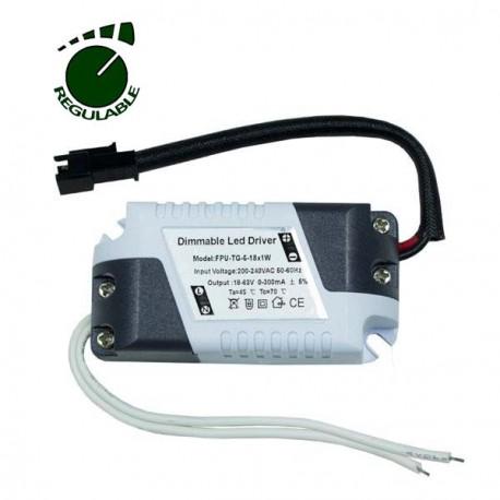 DRIVER REGULABLE PARA DOWNLIGHT LED DE 8W A 18W