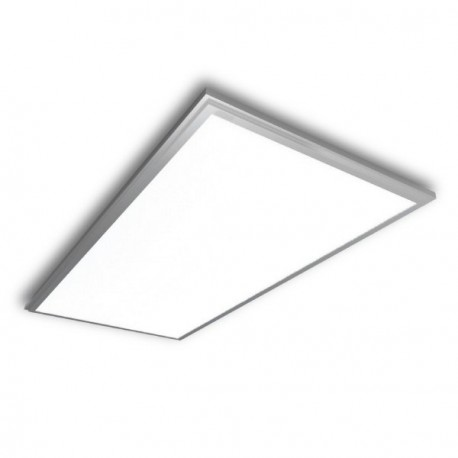PANEL LED 30 X 60 CM 25W MARCO PLATEADO
