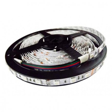 TIRA LED RGB A 12V Y 14.4 WATIOS/METRO IP20 DE 5 METROS