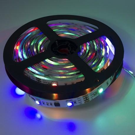 TIRA MAGIC LED RGB A 12V Y 7.2 WATIOS/METRO IP20 DE 5 METROS