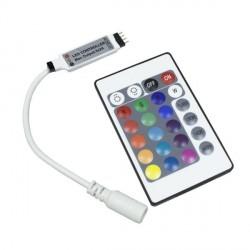 MINI CONTROLADOR PARA TIRA LED RGB 12V CON MANDO