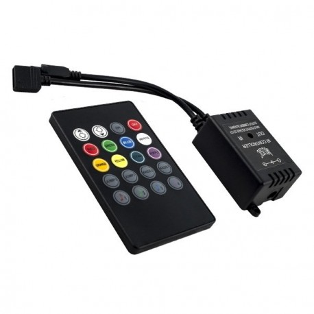 CONTROLADOR MUSICAL PARA TIRA LED RGB 5V/12V/24V CON MANDO