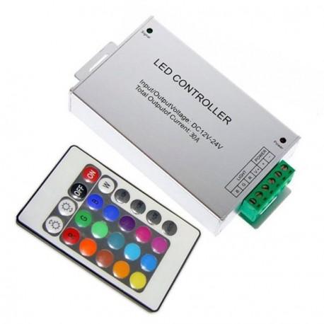 CONTROLADOR PARA TIRA LED RGB 12V 3A CON MANDO