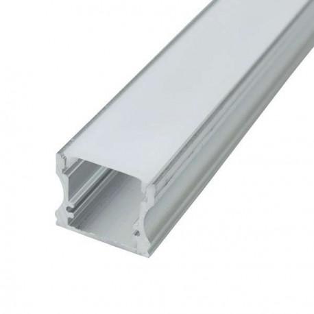PERFIL RECTANGULAR TIRA LED DE 2 METROS ALUMINIO 17,5 X 17,5 X 2000MM