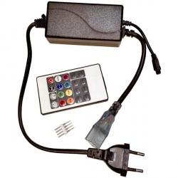CONTROLADOR PARA TIRA LED RGB 220V CON MANDO
