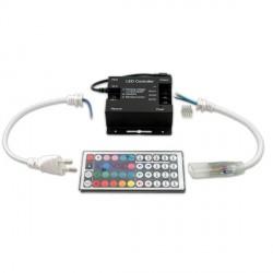 CONTROLADOR PROFESIONAL TIRA LED RGB 220V CON MANDO