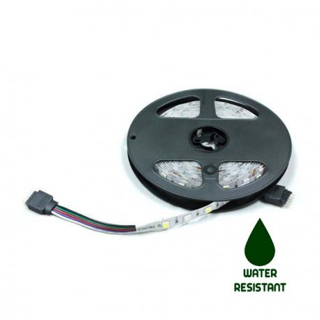 TIRA LED RGBW A 12V Y 14.4 WATIOS/METRO IP65 DE 5 METROS